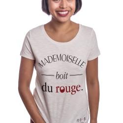 Mademoiselle boit du rouge le patricia tshirt