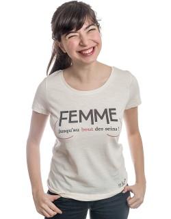 Femme jusqu'au bout des seins tshirt michel sardou shirt
