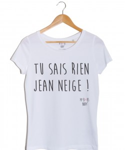 Jean NEIGE tshirt jon snow