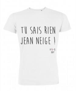Tu sais rien Jean Neige Jon Snow Homme T-shirt