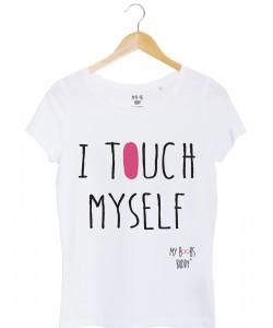 I Touch Myself tshirt femme blanc