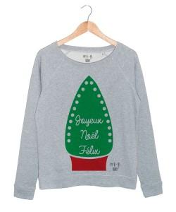 Joyeux Noël Félix sweat gris