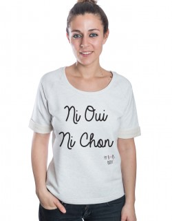 ni-oui-nichon-sweat-beige-femme-manche-retrousse