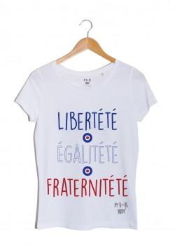 Libertété Tshirt Blanc