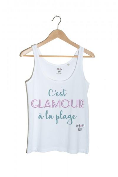 cest-glamour-a-la-plage-debardeur-blanc-vert-et-mauve