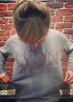 Berengère Krief Lyon sweat gris jacoboobs