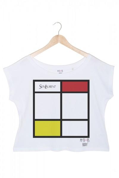 sein-laurent-danseuse-rouge mondrian danseuse t-shirt