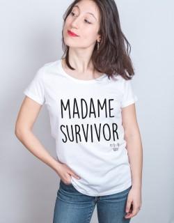 Madame Survivor tshirt blanc femme