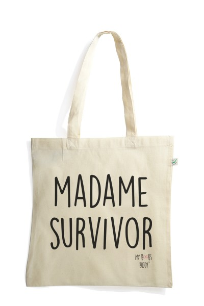 Madame Survivor tote bag sac coton
