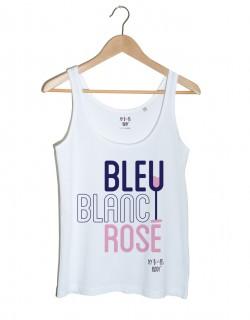 Bleu Blanc Rosé débardeur femme blanc