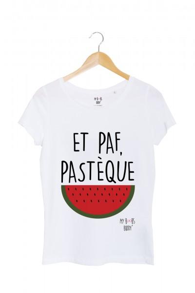 Et paf pastèque tshirt femme blanc