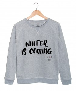 winter-is-coming-sweat gris