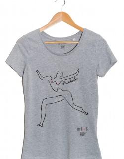 Picaboobs tshirt gris femme
