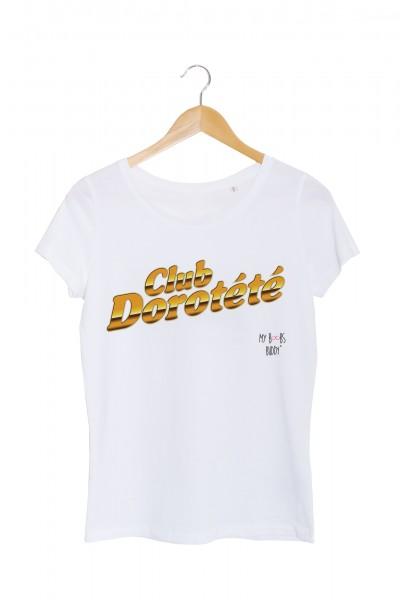 club dorothee dorotete tshirt femme blanc la cite de la peur