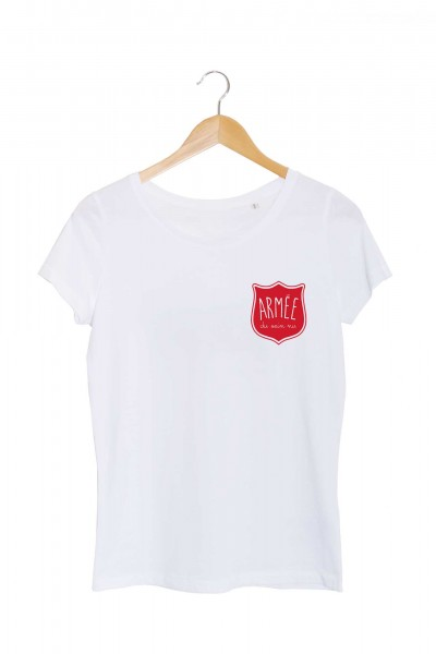 armée du sein nu tshirt blanc