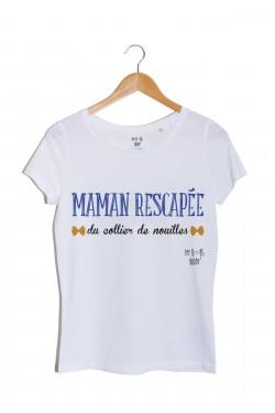 maman-rescapee-du-collier-de-nouilles tshirt blanc
