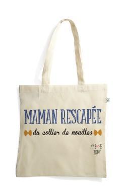 Collier de Nouilles sac coton tote bag