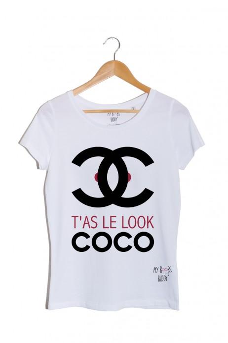 t'as le look coco tshirt