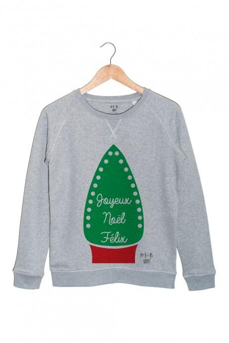joyeux-noel-felix-homme-sweat-gris