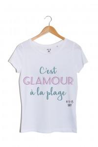 glamour-a-la-plage-cest-glamour-a-la-plage-tshirt-blanc-vert-et-mauve