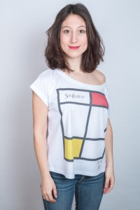 sein-laurent-danseuse-rouge mondrian danseuse t-shirt