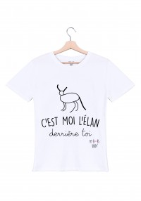t-shirt blanc L'élan derrière toi (Homme)