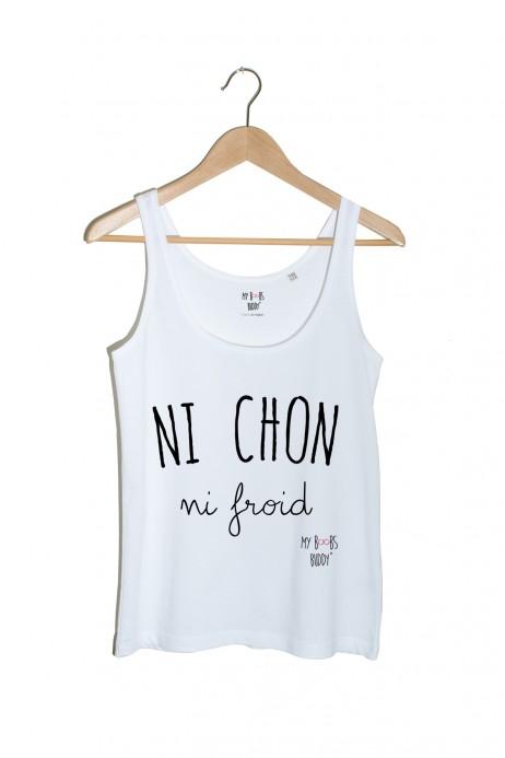 Ni Chon Ni Froid débardeur femme blanc