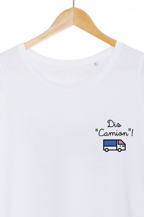 pouet pouet dis camion tshirt femme blanc my boobs buddy autopalpation