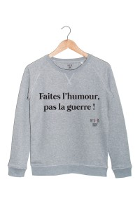 faites l'humour pas la guerre sweat my boobs buddy autopalpation