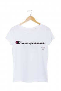 championne tshirt femme blanc my boobs buddy