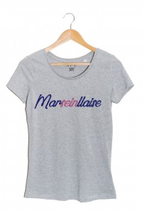 marseillaise t-shirt femme gris my boobs buddy autopalpation